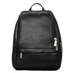 Royce Leather Vaquetta 10-inch Black Knapsack Adjustable Backpack