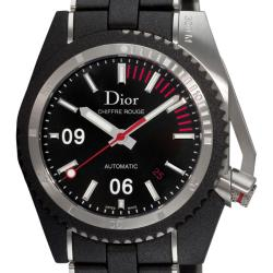 Christian Dior Men's 'Chiffre Rouge' Rubber Steel Automatic Watch