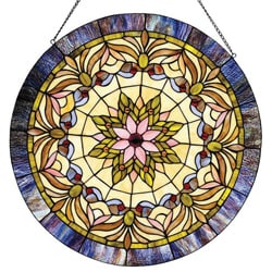 Tiffany-style Victorian Window Panel