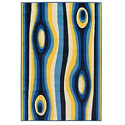Mandara Blue Stipe Rug (8' x 11')