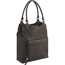 Solo Women's Vintage Espresso Bucket 16-inch Laptop Tote Travel Bags