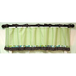 My Baby Sam Paisley Splash in Lime Curtain Valance