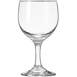 Libbey 8.5-oz Embassy Round Bowl Wine Glasses (Case of 24)