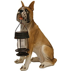 Tricod Boxer Dog with Lantern Solar Light
