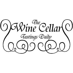 Design on Style 'The Wine Cellar Tastings Daily' Black Vinyl Art Quote