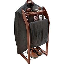 Mahogany Clothes Valet Stand