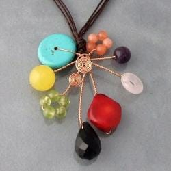 Handmade Abstract Multistone Necklace (Thailand)
