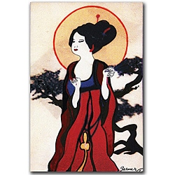 Garner Lewis 'Japanese Woman' Canvas Art