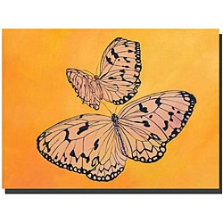 Rickey Lewis 'Two Butterflies' Gallery-wrapped Canvas Art