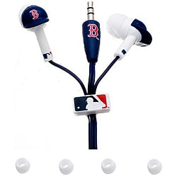 Nemo Digital MLB Boston Red Sox Earbud Headphones with Sculpted Batting Helmet (Pack of 12)