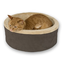 K&H 16-inch Mocha Thermo-Kitty Bed