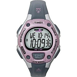 Timex Women's T5K020 Ironman Traditional 30-Lap Pink/Grey Watch