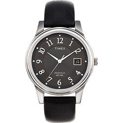 Timex T293219J Men's Elevated Classics Dress Black Leather Strap Watch