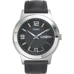 Timex T2E5619J Men's Elevated Classics Dress Black Leather Strap Watch