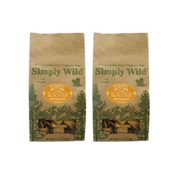 Simply Wild Peanut Butter 1.1-lb Dog Treats (Pack of 2)
