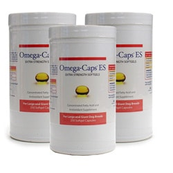 Omega-Caps 250 Large Dog Softgel Capsules (Pack of 3)