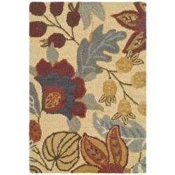 Safavieh Handmade Jardine Foilage Beige/ Multi Wool Rug (2' x 3')
