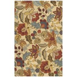 Safavieh Handmade Jardine Foilage Beige/ Multi Wool Rug (4' x 6')