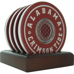 Steiner Sports Alabama Crimson Tide Logo Coasters w/ Game Used Jersey (Set of 4)