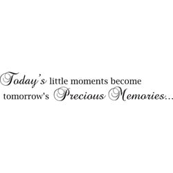 Design on Style 'Todays Little Moments' Vinyl Wall Art Quote