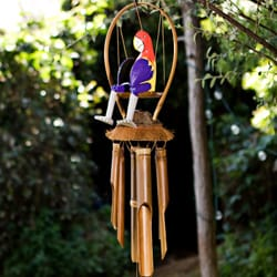 Bamboo 'Foxtrot the Parrot' Wind Chime (Indonesia)