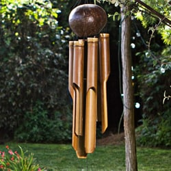 Bamboo 'Natural Small' Wind Chime (Indonesia)