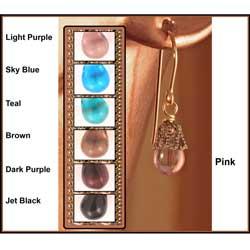 14k Gold Fill 'Midnight Dew Drop' Czech Glass Earrings 7062986