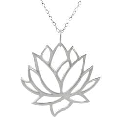 Tressa Sterling Silver Cut-out Lotus Flower Necklace