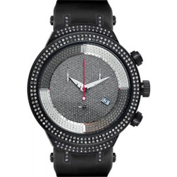 Joe Rodeo Men's Black 'Master' Diamond Watch 2.2 Carats