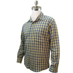Organic Cotton Rancher Blue Plaid Shirt (Guatemala)