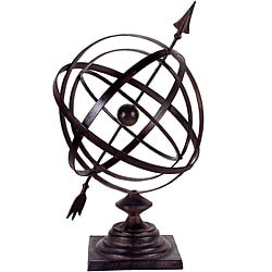 Handcrafted Tabletop Argento Armillary Sundial
