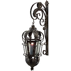 Vicenza Filigree Lantern/ Sconce with Bracket