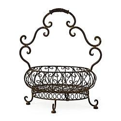 Provence Open Metal Basket