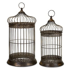 Set of 2 Ningbo Forbidden City Bird Cages