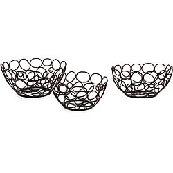 Iron Set of 3 Circle Nesting Bowls