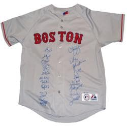Steiner Sports Autographed 2007 Boston Red Sox Team Curt Schilling Replica Gray Jersey