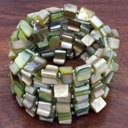 Green Mother of Pearl Wrap Bracelet (China)