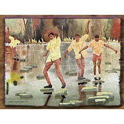Ed Wade, Jr. 'The Balancing Act' Art Print