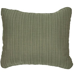 Textured Sage Knife-edge Outdoor Pillows with Sunbrella Fabric (Set of 2)