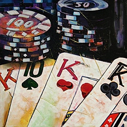 Max 'Poker' Canvas Art