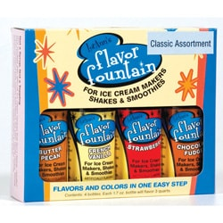 Flavor Fountain 4-pack for Ice Cream Makers, Shakes and Smoothies