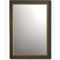 Scalloped Mahogany Framed Beveled Wall Mirror