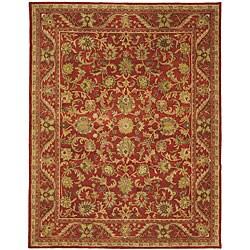 Safavieh Handmade Heirloom Red Wool Rug (9'6 x 13'6)