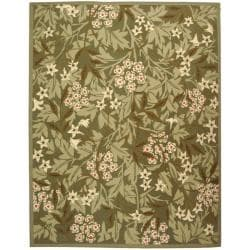 Safavieh Hand-hooked Patches Green Wool Rug (7'9 x 9'9)