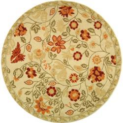 Safavieh Hand-hooked Eden Ivory Wool Rug (4' Round)