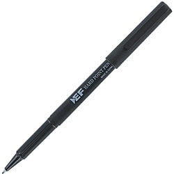 Eberhard Faber Hard Point Plastic Tip Black Pen (Pack of 12)