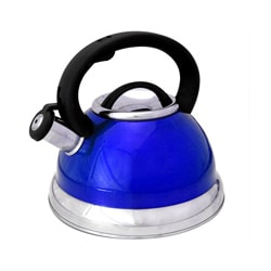 Alpine Blue Stainless Steel Whistling Tea Kettle