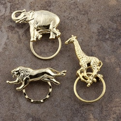 Detti Pin Gold-plated Wild Animals Glasses Holder (Set of 3) 7150800
