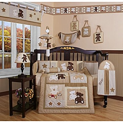Teddy Bear 13-piece Crib Bedding Set