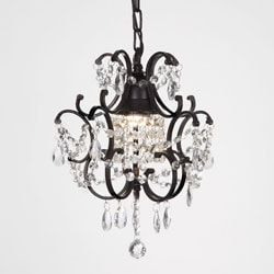 Gallery Versailles 1-light Black/ Crystal Mini Chandelier